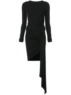 приталенное платье с присборенной отделкой Alexandre Vauthier