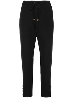 брюки с эластичным поясом и завышенной талией  Alexandre Vauthier