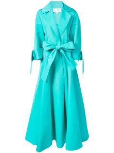 длинное платье с лацканами Christian Siriano