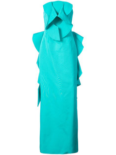 длинное платье без бретелей Christian Siriano