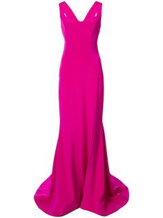 длинное платье с вырезом-сердце  Christian Siriano