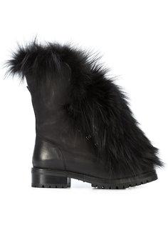ботинки с меховой отделкой Sartore