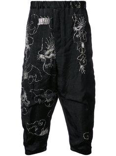 спортивные брюки с заниженным шаговым швом By Walid