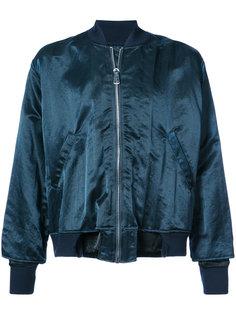 куртка-бомбер с необработанным подолом Longjourney