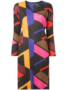 платье с геометрическим принтом  Pleats Please By Issey Miyake