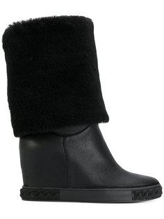 ботинки Chaucer с отделкой под овчину Casadei