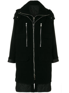 многослойное пальто с капюшоном  Les Hommes