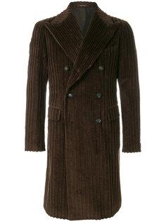 вельветовое двубортное пальто Tagliatore