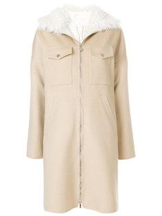 двухслойное пальто на молнии Moncler Gamme Rouge
