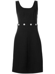 платье-шифт с декоративными пуговицами на поясе Tory Burch