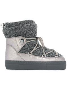 дутые зимние ботинки Moncler