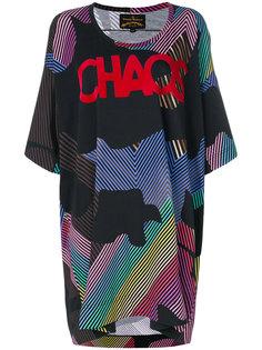 объемная футболка с принтом Chaos Vivienne Westwood Anglomania