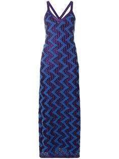 трикотажное платье макси с блестками Missoni