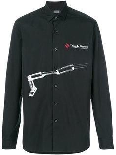 рубашка с графическим принтом Lanvin