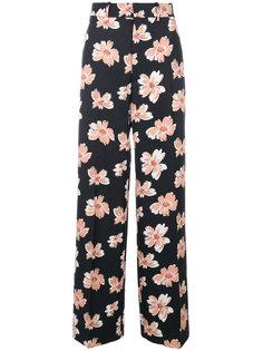 широкие брюки с цветочным принтом Joseph