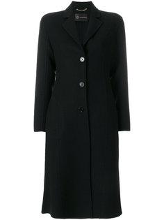 однобортное пальто кроя слим Versace
