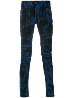 джинсы скинни с принтом Balmain