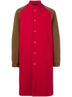 удлиненная двухцветная куртка-бомбер Paura