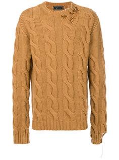 свитер вязки косичкой Paura