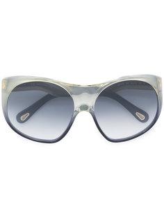 круглые массивные солнцезащитные очки Chloé Eyewear