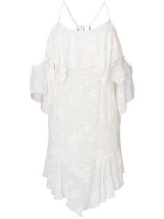 платье с открытыми плечами, оборками и цветочным узором Iro