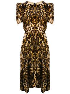 бархатное леопардовое платье Ulia Isabel Marant