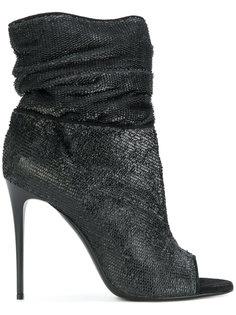 ботинки на каблуке с открытым носком Deimille