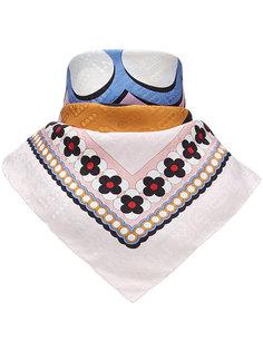 квадратный шарф с логотипом Fendi