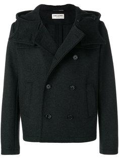 пальто с капюшоном кроя слим Saint Laurent