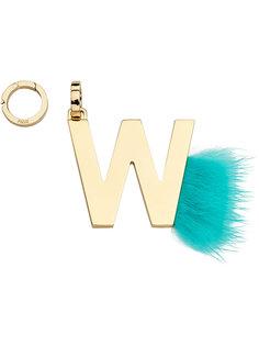 подвеска в виде буквы W Fendi
