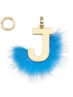 подвеска в виде буквы J Fendi