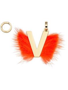 подвеска в виде буквы V Fendi
