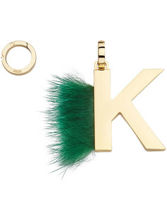 подвеска в виде буквы K Fendi