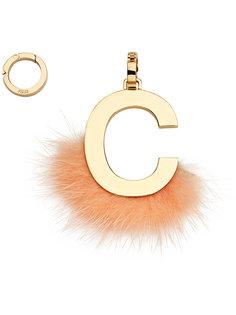 подвеска в виде буквы C Fendi