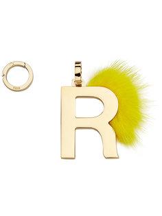 подвеска в виде буквы R Fendi