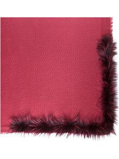 шарф с меховой отделкой Fendi