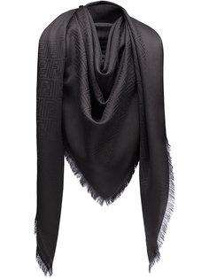 шарф с монограммынм принтом Fendi