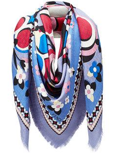 шарф с цветочным принтом Fendi
