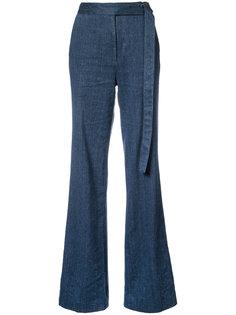 широкие брюки с завышенной талией Natori