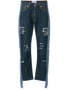 состаренные укороченные джинсы  Forte Couture
