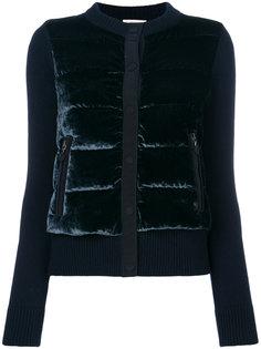 бархатная дутая куртка  Moncler