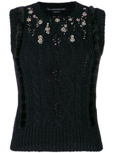декорированный свитер без рукавов Ermanno Scervino
