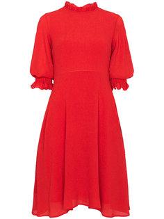приталенное платье с оборками Rejina Pyo