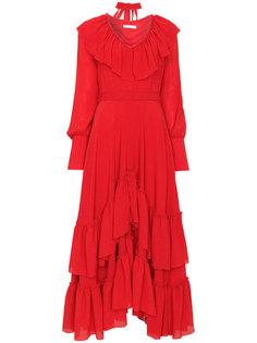 длинное платье с оборками Rejina Pyo