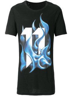 футболка с короткими рукавами с принтом пламени 11 By Boris Bidjan Saberi