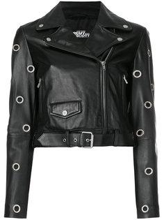 укороченная байкерская куртка-с люверсами  Jeremy Scott