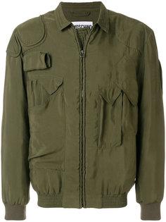 легкая куртка с накладными карманами Moschino