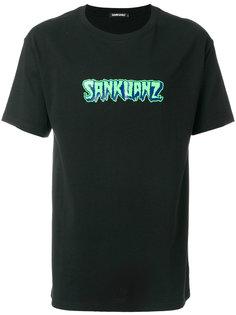 футболка с принтом-логотипом Sankuanz