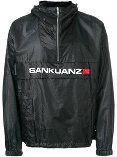 куртка с логотипом и горловиной на молнии Sankuanz
