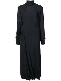 струящееся платье с прозрачными рукавами Victoria Beckham
